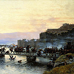 900 Classic russian paintings - KIVSHENKO Alexei - Storm Castle Ardahan May 5, 1877