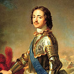 Jean Marc Nattier - Portrait of Peter I in knightly armor, 900 Classic russian paintings
