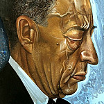 Grigory Boris - Portrait of Rachmaninov, 900 Classic russian paintings