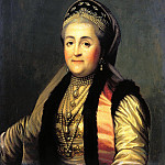 900 Classic russian paintings - Eriksen Vigilius - Portrait of Catherine II in the sludge and headdress. 1772