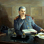 900 Classic russian paintings - Portraits of Stalin - Boris Karpov