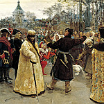 900 Classic russian paintings - Ilya Repin - Arrival of the kings of John and Peter