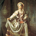 Levitsky Dmitry - Portrait of Empress ward educational society for young ladies Alexandra Levshina, 900 Classic russian paintings