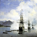 900 Classic russian paintings - Ivan Aivazovsky - Marines NNRaevsky have Subashi