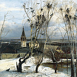 Alexei Savrasov – Rooks Have Arrived, 900 Classic russian paintings