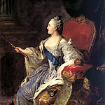 Rocot Fyodor - Portrait of Catherine II, 900 Classic russian paintings