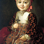 Rocot Fyodor - Portrait of AG Bobrinsky in childhood, 900 Classic russian paintings