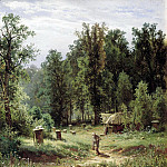 900 Classic russian paintings - Shishkin Ivan - Apiary in the woods