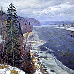 900 Classic russian paintings - Ivan Glazunov - The first snow on the Dvina