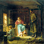 Maximov Vasiliy - The Boy Mechanic, 900 Classic russian paintings
