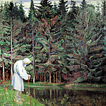 Nesterov Mikhail - old man - a servant of God, 900 Classic russian paintings