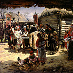 Makovsky Vladimir – Prayer for Easter, 900 Classic russian paintings