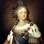 900 Classic russian paintings - Borovikovsky Vladimir - Portrait of Empress Maria Feodorovna