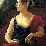 900 Classic russian paintings - Kiprensky Orestes - Portrait of Catherine Semenovna Semenova as Cleopatra