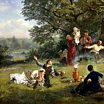900 Classic russian paintings - KORZUKHIN Alex - Sunday