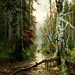 900 Classic russian paintings - Klever Julius - Autumn in the woods