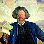 900 Classic russian paintings - Kustodiyev Boris - Portrait of MA Voloshin