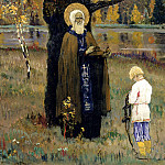 900 Classic russian paintings - Nesterov Mikhail - Fine arts. Version
