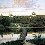 900 Classic russian paintings - Isaak Levitan - Quiet Monastery