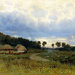 900 Classic russian paintings - Kryzhitsky Constantine - Before the rain