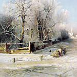 Alexei Savrasov – Winter landscape, 900 Classic russian paintings