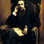 900 Classic russian paintings - Kramskoy Ivan - Portrait of the philosopher Vladimir Sergeyevich Solovyov
