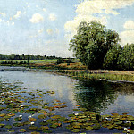 Ostrouhov Ilya - River at noon, 900 Classic russian paintings