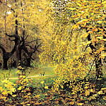 900 Classic russian paintings - Ostrouhov Ilya - Golden Autumn