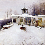 SOKOLOV Vladimir – Abandoned Farmstead, 900 Classic russian paintings