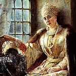 900 Classic russian paintings - MAKOVSKY Constantine - Boyaryna the window