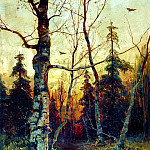 900 Classic russian paintings - Klever Julius - Landscape. 1892