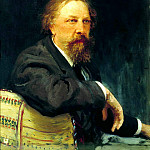 Ilya Repin - Portrait of AK Tolstoy, 900 Classic russian paintings