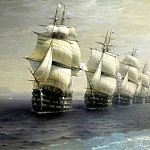900 Classic russian paintings - Ivan Aivazovsky - Review of the Black Sea Fleet in 1849