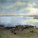 MAKOVSKY Alexander - Transportation on the Volga, 900 Classic russian paintings