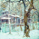 900 Classic russian paintings - Stepan Kolesnikov - Winter landscape