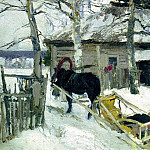 900 Classic russian paintings - Konstantin Korovin - Winter