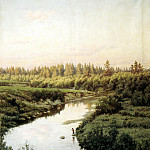 900 Classic russian paintings - BRYULLOV Paul - Landscape with a River