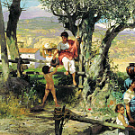 Semiradsky Henry - Rome. Village, 900 Classic russian paintings