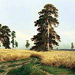 900 Classic russian paintings - Shishkin Ivan - Rye