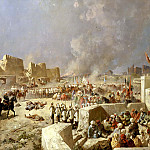 900 Classic russian paintings - Karazin Nicholas - Entry of Russian troops in Samarkand June 8, 1868