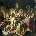 900 Classic russian paintings - Perov Vasily - The debate about faith