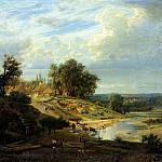 900 Classic russian paintings - Kiselyov Alexander - Type in the vicinity of Kharkov