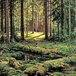 900 Classic russian paintings - Shishkin Ivan - Coniferous Forest. Sunny Day