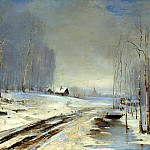 Alexei Savrasov - thaw, 900 Classic russian paintings