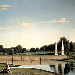 900 Classic russian paintings - SOROKA Gregory - View of the dam in the estate Spasskoe Tambov province