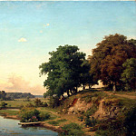 900 Classic russian paintings - ORLOWSKI Vladimir - Landscape with a pond