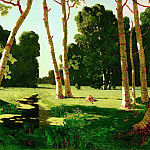 900 Classic russian paintings - Kuindzhi Arkhip - Birch Grove