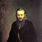 900 Classic russian paintings - Kramskoy Ivan - Portrait of a publisher and writer Alexei Sergeyevich Suvorina