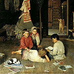 Bogdanov-Belsky Nikolai - New Tale, 900 Classic russian paintings