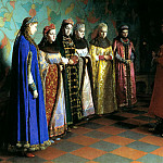 900 Classic russian paintings - SEDOV Gregory - Choosing bride Tsar Alexei Mikhailovich